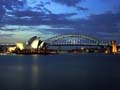 Opera House and Bridge at late dusk from Mrs Macquaries Pt S...