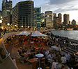 Bennelong Point Bar, Sydney City backdrop