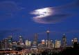 Moon behind cloud Sydney