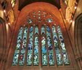 Beautiful stained glass window, St Marys Cathedral Sydney