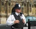 Policeman in front of parlament house in London